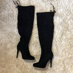 Knee high Faux suede boots